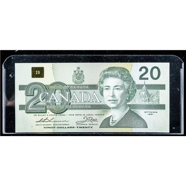 Bank of Canada 1991 20.00 No Serifs (UNC)