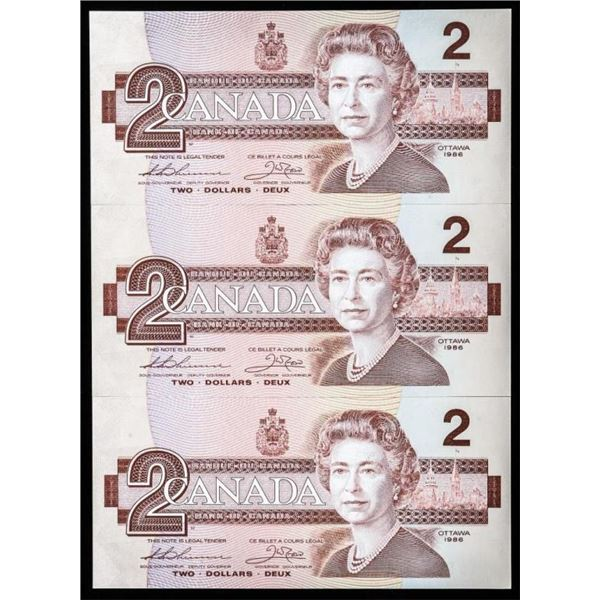 Bank of Canada 1986 2.00 (AUK) Scarce (3) in Seque