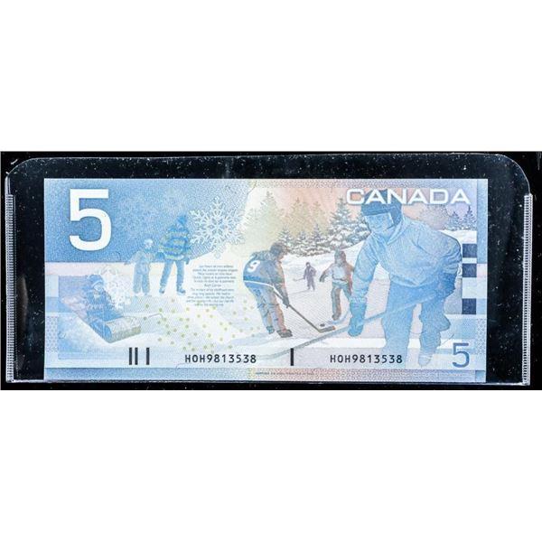 Bank of Canada 2002 5.00 Choice UNC (HOH) Hockey S