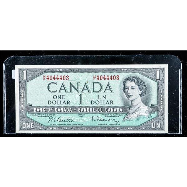Bank of Canada 1954 1.00 (HF) UNC