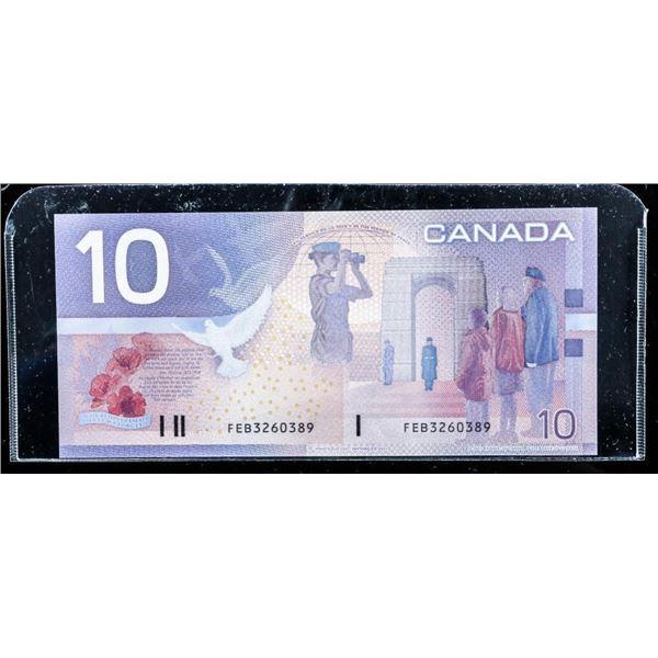 Bank of Canada 2001 10.00 (FEB) Choice UNC