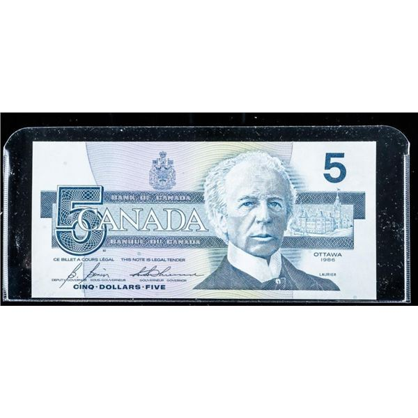 Bank of Canada 1986 5.00 (ANX) UNC Note