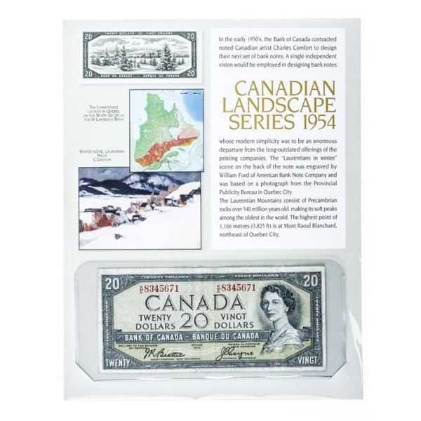 Canadian Landscape Series 1954 20.00 Collectible N