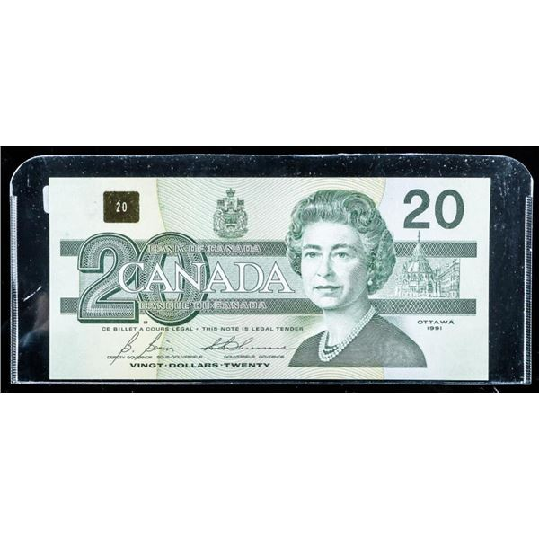 Bank of CANADA 1991 20.00 (AIX) Choice UNC BC57Ba-