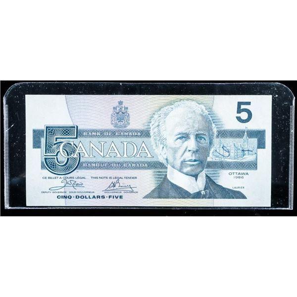 Bank of CANADA 1986 5.00 (ENX) Yellow BPN (VF)