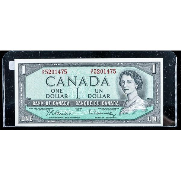 Bank of Canada 1954 1.00 Modified Portrait Choice