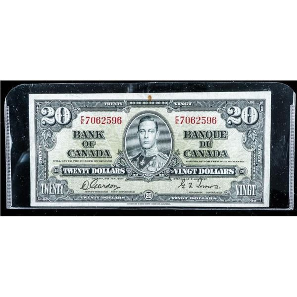 Bank of Canada 1937 20.00 (G-T)