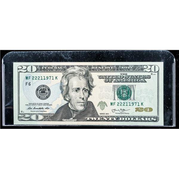 Federal Reserve - 2013 Green Seal 20.00 UNC
