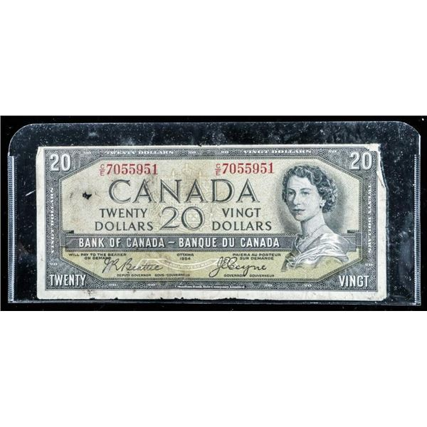 Bank of Canada 1954 20.00 Devil's Face (B-C)
