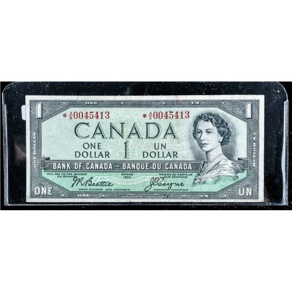 Bank of Canada 1954 1.00 Modified Portrait (A/A) *