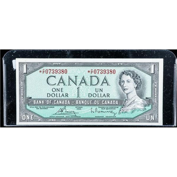 Bank of Canada 1954 1.00 Modified Portrait *Replac