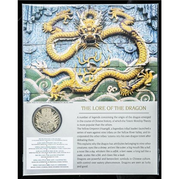 The Lore of the Dragon - Collectible Medallion 24kt Gold Gilded with 8x10 Giclee Art Card