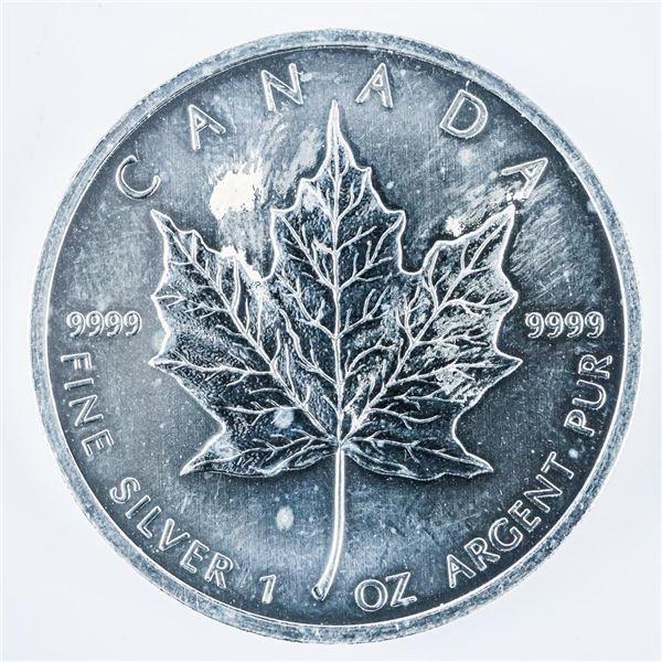 RCM Maple Leaf $5.00 Coin .999 Fine Silver 1oz ASW 2012
