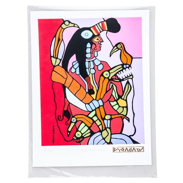 Norval Morrisseau (1931-2007) Giclee/Publishers Proof 'Young Shaman Powers'