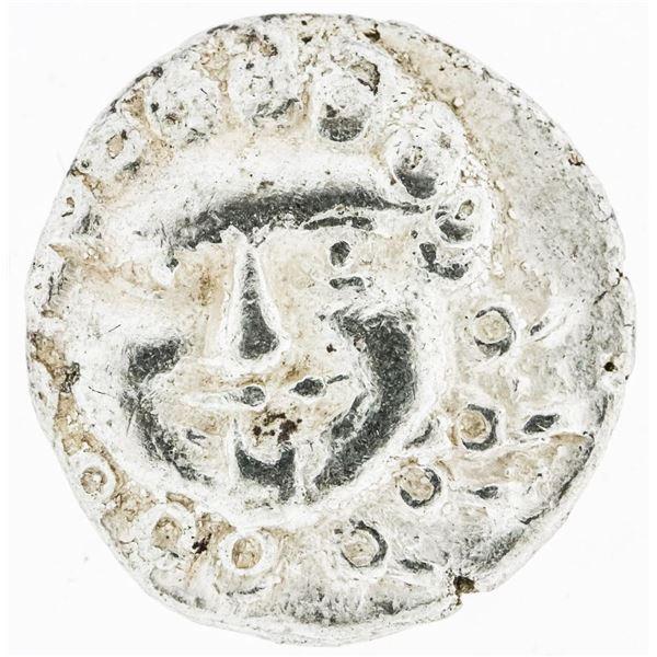 Ancient Greek Medusa - Head Silver Drachm of Apollina - 450-350 BCE