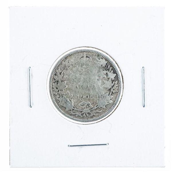 1905 Canada Silver 25 Cents