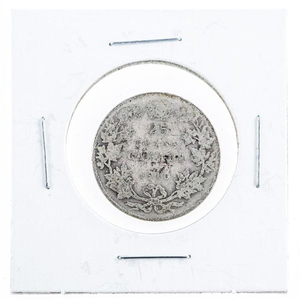 1910 Canada Silver 25 Cents