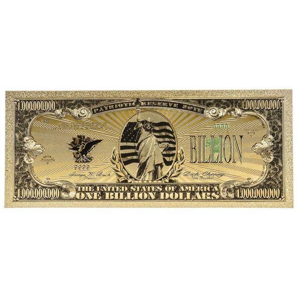 USA One Billion Dollar 24kt Gold Leaf Note.