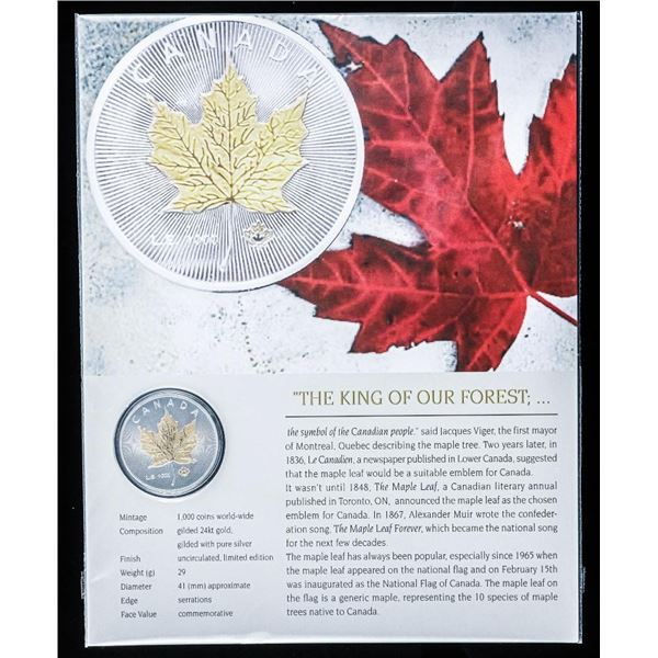 The King of Our Forest The Maple Leaf 24kt Gilded and Silver Plated '2020' Collector Medallion