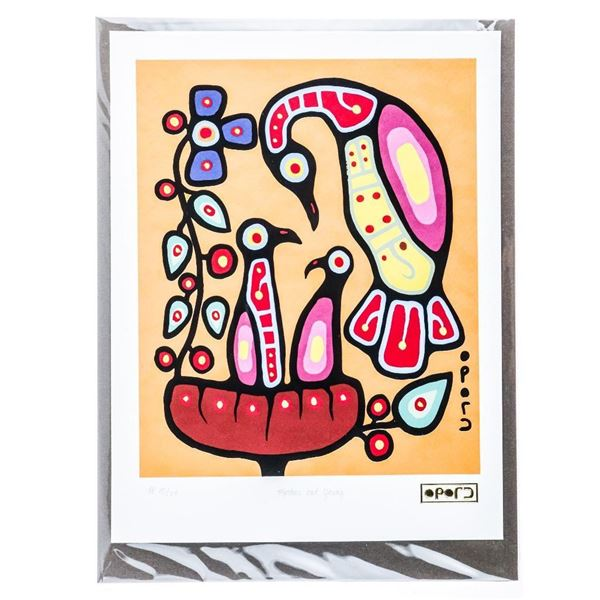Christian Morrisseau (1969-) All of the Colours Collection Artist Proof 'Mother and Young' Giclee 8x