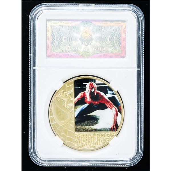 Spiderman Collectible Medallion 24kt Gold Foil