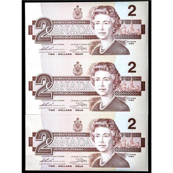Bank of Canada 1986 2.00 (AUK) GEM UNC