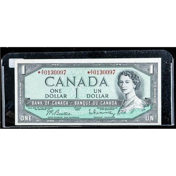 BANK OF CANADA 1954 1.00 * Replacement Note
