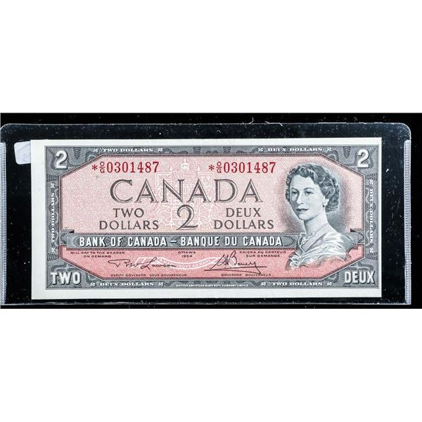 Bank of Canada 1954 *Replacement 2.00 (EF) O/G