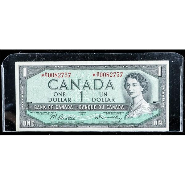 BANK OF CANADA 1954 1.00 * Replacement (MY) B/R