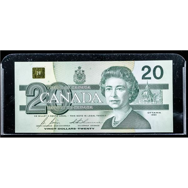 Bank of CANADA 1991 20.00 'ESZ' with BPN UNC