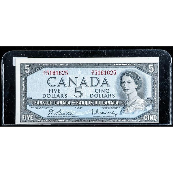 Bank of Canada 1954 5.00 Modified Portrait Choice UNC (N/X)