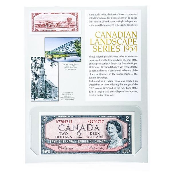 Canadian Landscape Series 1954 Bank of Canada 2.00 8x10 Display Giclee