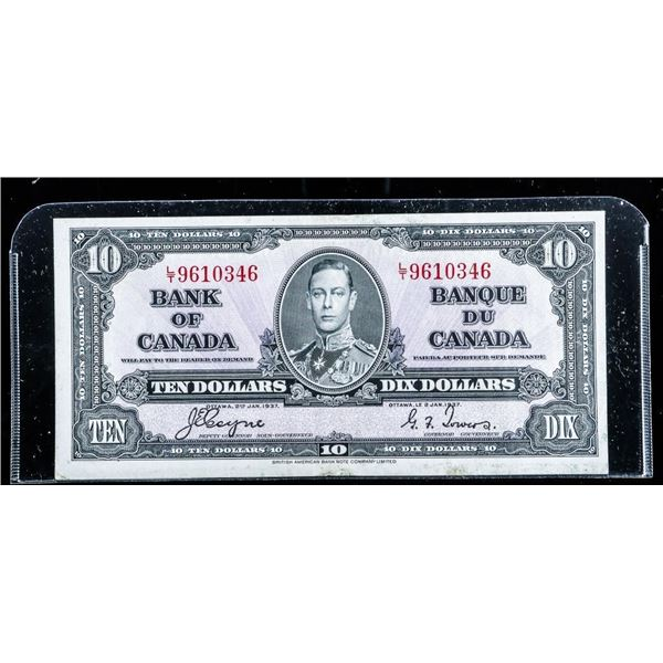 Bank of CANADA 1937 1.00 C/T (Z/M)