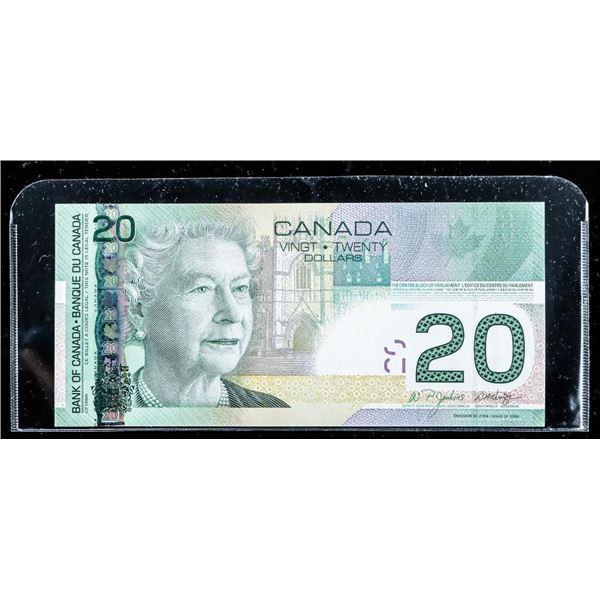 Bank of Canada 2004 20.00 Choice UNC (EZI)
