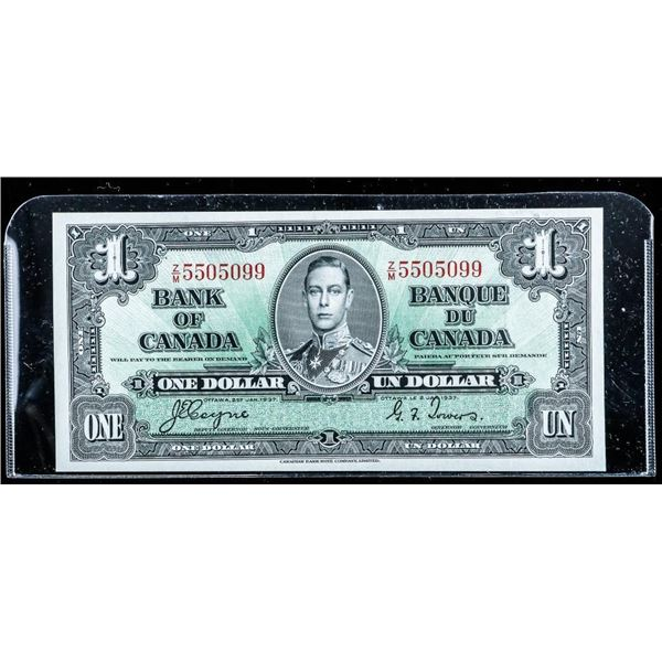 Bank of CANADA 1937 1.00 C/T (H/N)