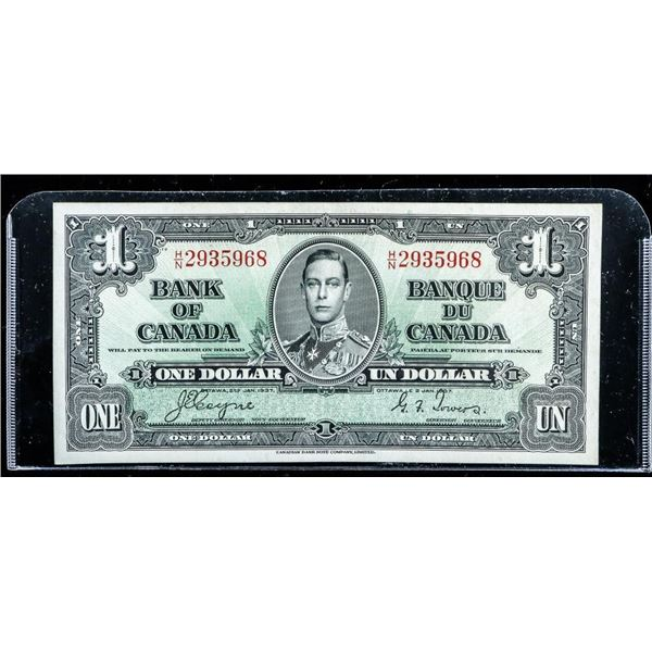 Bank of CANADA 1937 1.00 (H/N) C/T