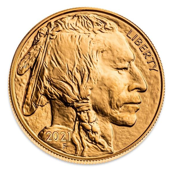 USA Indian Head/Buffalo .9999 Fine Gold 1oz Round - Collector Bullion.