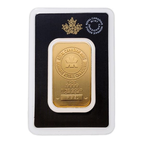 Premier - Royal Canadian Mint .9999 Fine Gold 1oz Bar. Canadian Gold, Collectible Worldwide