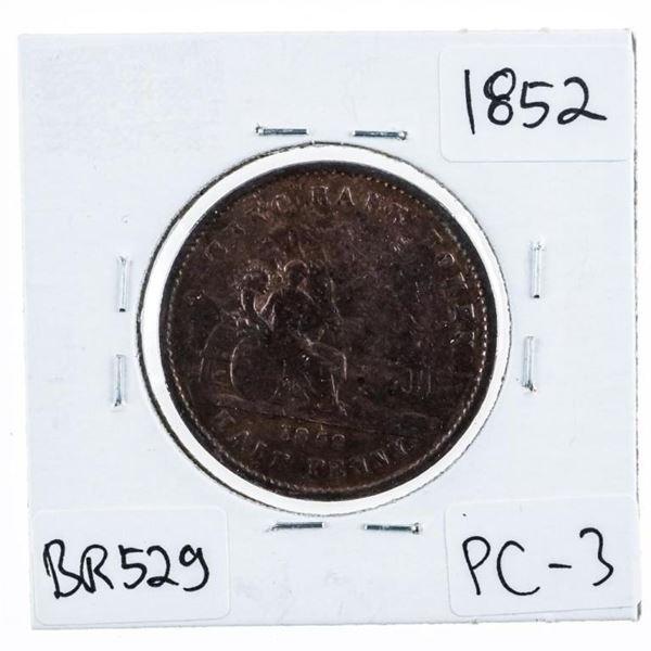 Province Du Canada 1852 BR 529 Half Penny (612)