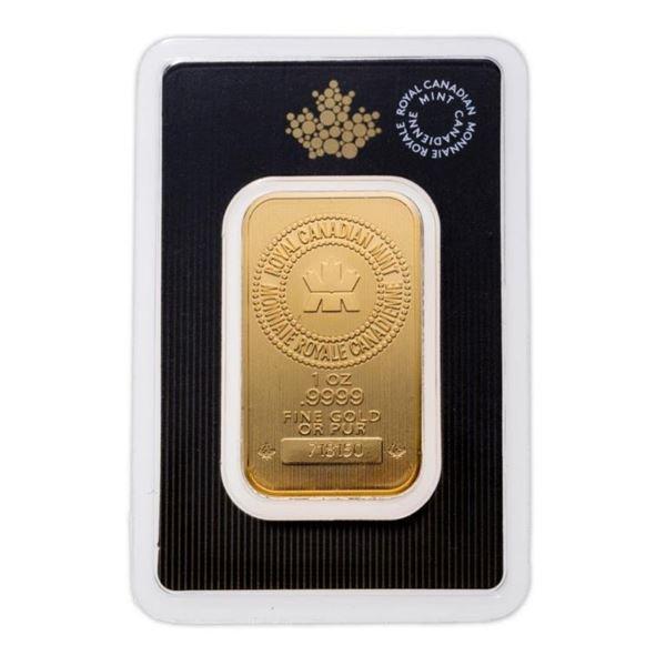 RCM Collector Bullion .999 Fine 24kt Gold Bar 1oz