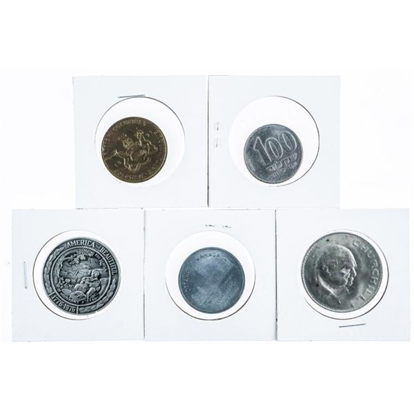 Lot (5) Medals and Tokens (629)