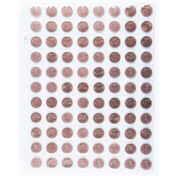 Group of (88) Canada 1 Cent Coins