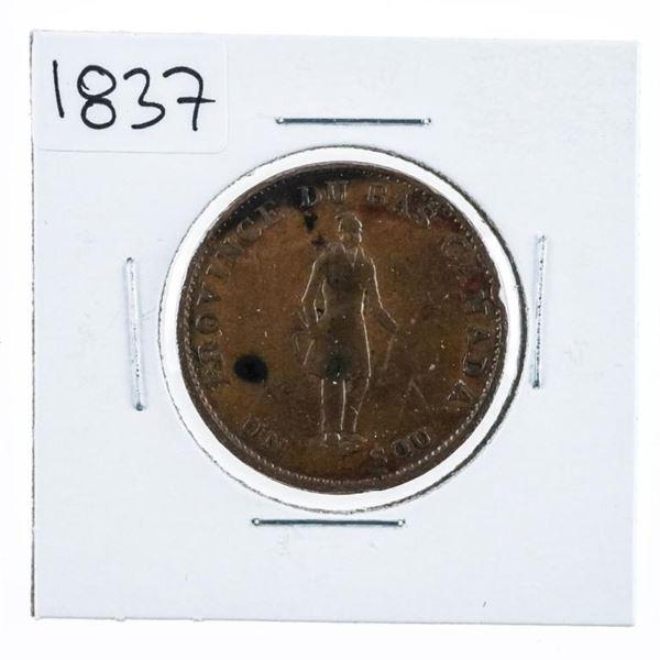 Province Du Bass Canada Un Sous 1837 Half Penny (6