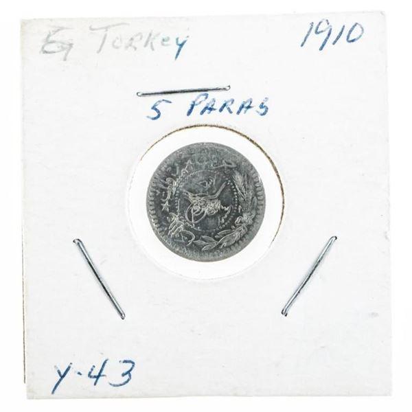 Turkey 5 Paras 1910 Y-43