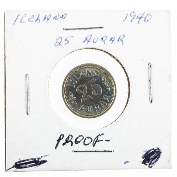 Iceland 1940 25 Aurar Proof