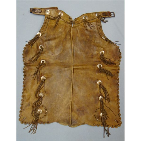 Al Furstnow fancy studded chaps, inside pockets, scalloped borders