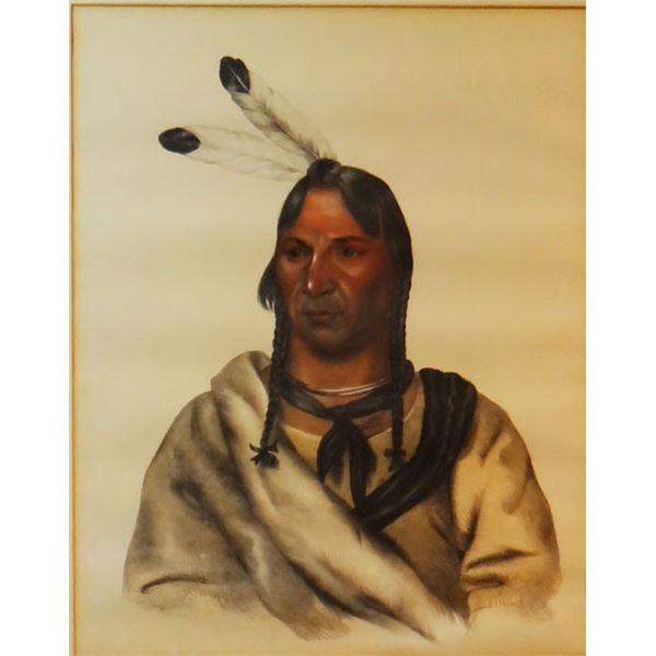 """Esh Ta Hum Leah -A Sioux Chief, 12"""" h x 10"""" w"""