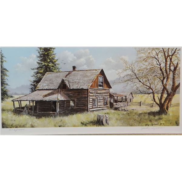 """Syverson, Judy print, The Old Dorch Place, 4"""" x 8"""", #602/1000"""