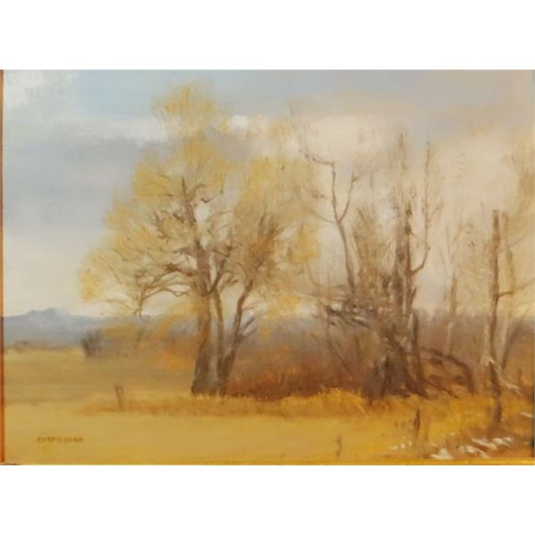 "Eversman, oil  landscape untitled, 9"" x 12"""