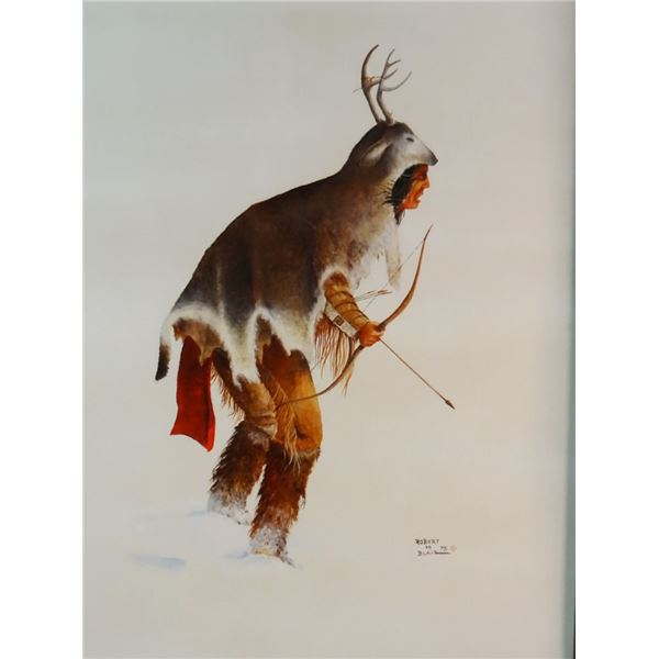 "Blair, Robert, Blackfeet Hunter, oil on board, 16"" x 12"", 1975"